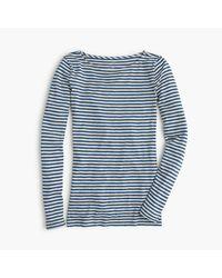 J.Crew | Blue Painter Boatneck T-shirt In Stripe | Lyst