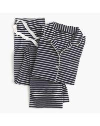 J.Crew | Blue Petite Dreamy Cotton Pajama Set In Stripe | Lyst