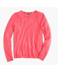 J.Crew - Pink Italian Featherweight Cashmere Long-sleeve T-shirt for Men - Lyst