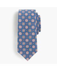 J.Crew   Blue Italian Linen-silk Tie In Red Medallion for Men   Lyst