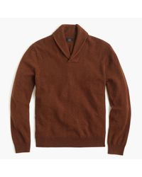 J.Crew | Brown Italian Cashmere Shawl-collar Popover Sweater for Men | Lyst