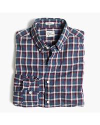 J.Crew | Blue Secret Wash Shirt In Heather Poplin Plaid for Men | Lyst