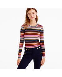 J.Crew - Multicolor Rainbow Stripe Sweater In Merino Wool - Lyst
