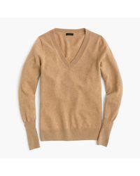 J.Crew | Natural Italian Cashmere Classic V-neck Sweater | Lyst