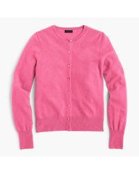 J.Crew | Pink Italian Cashmere Cardigan Sweater | Lyst