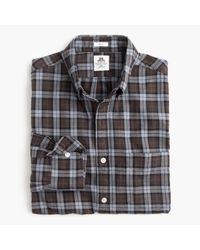 J.Crew   Slim Thomas Mason Flannel Shirt In Brown Plaid for Men   Lyst