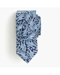 J.Crew | Blue Drake's Silk Tie In Giraffe Print for Men | Lyst