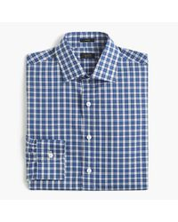 J.Crew | Brown Crosby Shirt In Blue Tartan for Men | Lyst