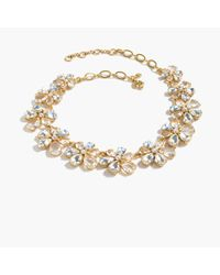 J.Crew | Multicolor Magnolia Crystal Necklace | Lyst