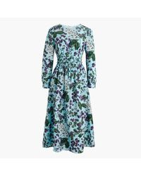 J.Crew | Blue Collection Midi Dress In Ratti Morning Floral Print | Lyst