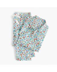 J.Crew | Multicolor Short-sleeve Pajama Set In Liberty Edenham Floral | Lyst