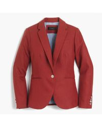 J.Crew | Red Tall Campbell Blazer In Linen | Lyst