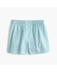 J.Crew | Blue Green Check Boxers for Men | Lyst