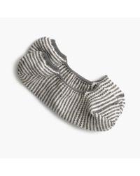 J.Crew | Gray Anonymous Ism No-show Socks In Stripe | Lyst