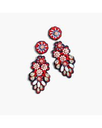 J.Crew | Embroidered Crystal Earrings | Lyst