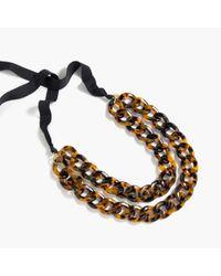J.Crew | Black Double Lucite Chain Necklace | Lyst