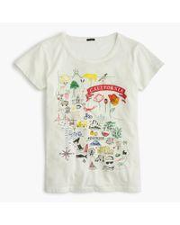 "J.Crew | White ""california"" Destination Art T-shirt | Lyst"