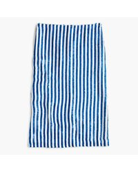 J.Crew | Blue Collection Striped Sequin Skirt | Lyst