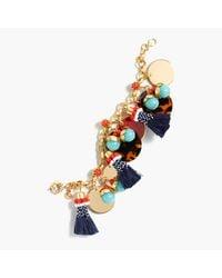 J.Crew | Multicolor Fun Tassel Charm Bracelet | Lyst