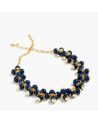 J.Crew | Blue Cluster Necklace | Lyst