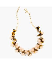 J.Crew | Metallic Tortoise And Blush Necklace | Lyst