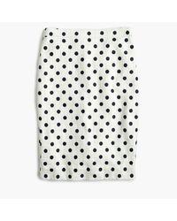 J.Crew | White Petite Pencil Skirt In Polka Dot Textured Tweed | Lyst
