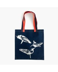 J.Crew | Blue For The Royal Ontario Museum Whale Tote | Lyst