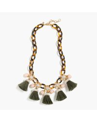 J.Crew | Multicolor Tortoise Link And Tassel Necklace | Lyst