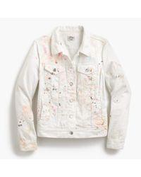 J.Crew | White Limited-edition Denim Jacket In Paint Splatter | Lyst