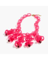 J.Crew | Pink Translucent Link Statement Necklace | Lyst