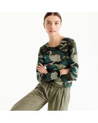 J.Crew | Green Tippi Sweater In Camouflage for Men | Lyst