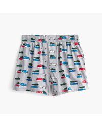 J.Crew - Blue Holiday Caravan Print Boxers for Men - Lyst