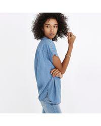 J.Crew - Blue Madewell Central Shirt In Roberta Indigo - Lyst