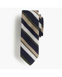 J.Crew | Blue Silk-wool Tie In Multistripe for Men | Lyst