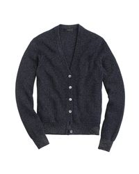 J.Crew | Blue Ribbed Metallic Cardigan Sweater for Men | Lyst