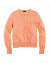 J.Crew Orange Italian Cashmere Cardigan Sweater
