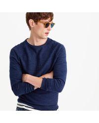 J.Crew | Blue Tall Rugged Cotton Sweater | Lyst