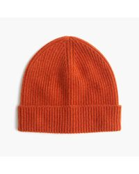 J.Crew - Red Cashmere Hat - Lyst