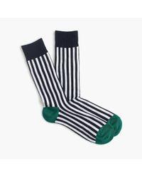 J.Crew - Blue White Striped Socks for Men - Lyst