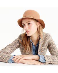 J.Crew | Brown Italian Wool Bucket Hat | Lyst