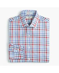 J.Crew - Blue Albiate 1830 Ludlow Slim-fit Spread-collar Shirt In Tattersall for Men - Lyst