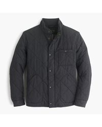 J.Crew | Gray Tall Sussex Quilted Jacket for Men | Lyst