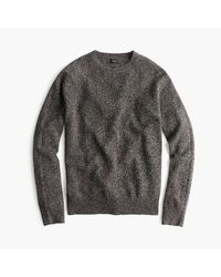 J.Crew - Gray Slim Marled Lambswool Sweater for Men - Lyst