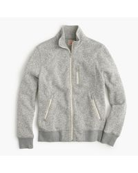 J.Crew | Gray Tall Summit Fleece Full-zip Jacket In Heather Stone for Men | Lyst