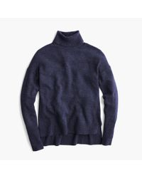 J.Crew | Blue Relaxed Wool Turtleneck Sweater With Rib Trim for Men | Lyst
