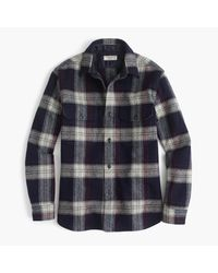 J.Crew | Blue Wallace & Barnes Guide Shirt-jacket In English Wool for Men | Lyst