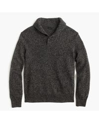 J.Crew | Gray Marled Lambswool Shawl-collar Sweater for Men | Lyst
