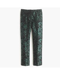 J.Crew | Patio Pant In Evergreen Jacquard | Lyst
