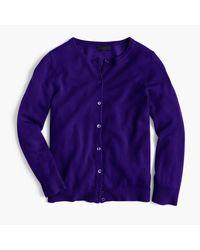 J.Crew   Purple Italian Featherweight Cashmere Cardigan Sweater   Lyst