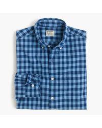 J.Crew   Secret Wash Shirt In Blue Gingham for Men   Lyst